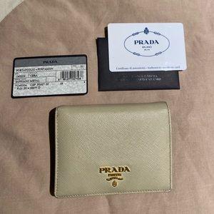 Prada bi-fold wallet